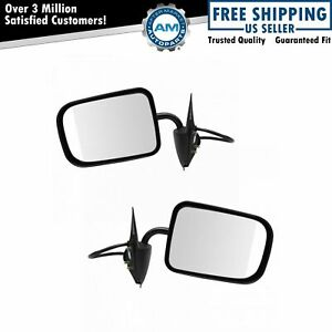 Power Black Mirrors Pair Set Right Rh Left Lh For 94 97 Dodge Pickup Truck Ram