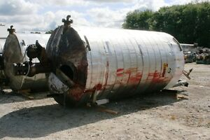 11838 003 4000 Gallon Vertical Steel Jacketed Mix Tank