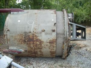 11738 001 1200 Gallon Vertical Stainless Steel Jacketed Mix Tank