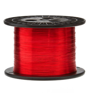 22 Awg Gauge Enameled Copper Magnet Wire 5 0 Lbs 2535 Length 0 0263 155c Red