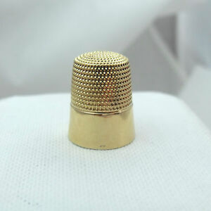 Victorian Simon Bros 14k Gold Sz 8 Sewing Thimble 4 3gr