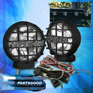 2 X 6000k Hid 4x4 Offroad Grille Guard bull Bar roof Mount On Fog Driving Lights