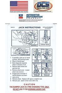 1971 Road Runner Gtx Charger R T Jacking Instructions Trunk Lid Decal 2962720