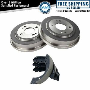 Rear Brake Shoes 2 Drums Left Lh Right Rh Kit Set For Honda Accord Civic Fit