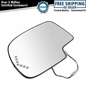 Heated Mirror Glass Turn Signal W O Auto Dimming Lh Lf For Chevy Gmc Cadillac