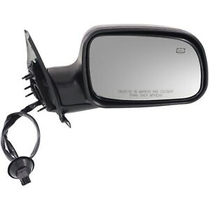 Power Mirror For 1999 2004 Jeep Grand Cherokee Right Heated Textured Black