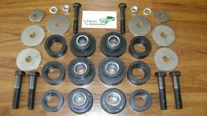 Subframe Body Mount Bushing Kit With Hardware Bushings Sub Frame Bolts Washers