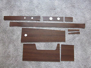 1966 Impala Ss And Caprice Dash And 4 Speed Console Wood Grain Trim