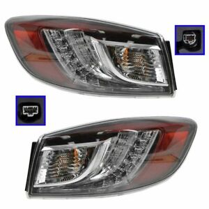 Led Outer Brake Taillight Taillamp Pair Set For 10 13 Mazda 3 Mazda3 Sedan