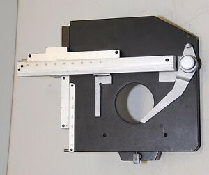 Technical Instrument X Y Rotate Slide Holder Microscope Stage