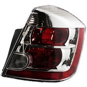 Halogen Tail Light For 2007 2009 Nissan Sentra 2 0l Eng Right Clear Red Lens