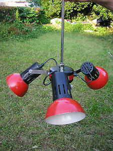 Mid Century 1 Ufo Swivel Metalware Ceiling Red Lamp Orientable