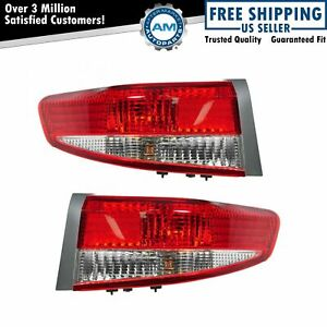 Outer Taillights Taillamp Rear Brakes Pair Set For 03 04 Accord 4 Door Sedan