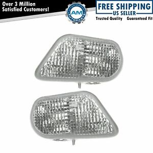 Side Marker Corner Parking Lights Turn Signals Pair Set New For 98 02 Trans Am