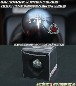 Mu Gen Style Round Shift Knob 6 Speed Manual Fits Honda Acura