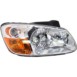 Headlight For 2007 2008 2009 Kia Spectra Right Clear Lens With Bulb