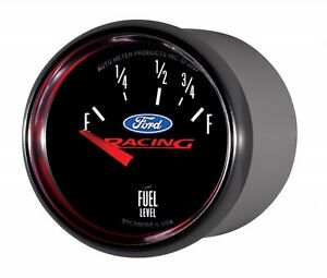 Ford Racing Autometer 2 1 16 52mm Fuel Gauge Empty 73 Ohms Full 10 Ohms 880075