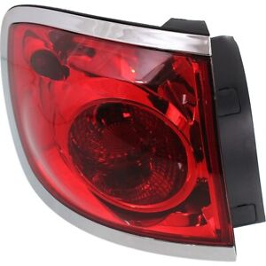 Tail Light For 08 12 Buick Enclave Driver Side Outer Body Mounted