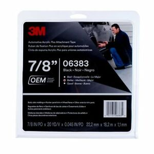 3m 6383 Automotive Acrylic Double sided Attachment Tape 7 8