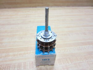 Centralab 1413 Rotary Switch Phenolic 2 Pole 11 Position Non shorting Crl