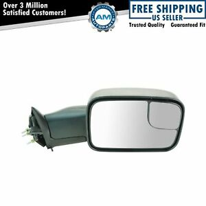 Mirror Power Heated Flip Up Towing Passenger Side Right Rh For Dodge Ram Pickup