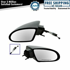 Manual Remote Side View Mirrors Left right Pair Set Of 2 For 93 02 Chevy Camaro