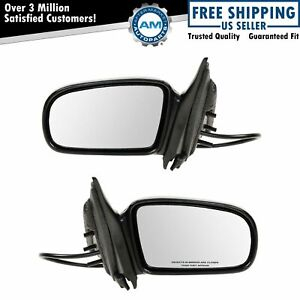 Black Folding Power Mirrors Pair Set Left Lh Right Rh Side For Malibu Cutlass