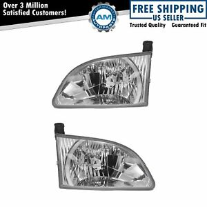 Headlights Headlamps Pair Set Left Lh Right Rh For 01 03 Toyota Sienna