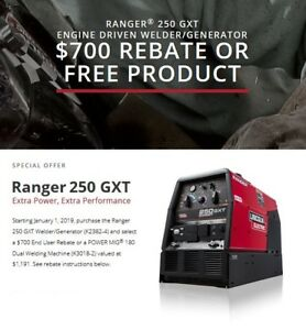 Lincoln Ranger 250 Gxt Engine Welder Generator New K2382 4
