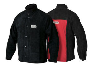 Lincoln Heavy Duty Leather Welders Welding Jacket Size Large K2989 l