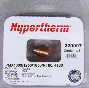 Hypertherm Genuine Powermax 1000 1250 1650 Extended Nozzle 220007