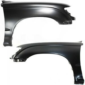 Fender For 95 2000 Toyota Tacoma Dlx Set Of 2 Front Left Right Primed Steel