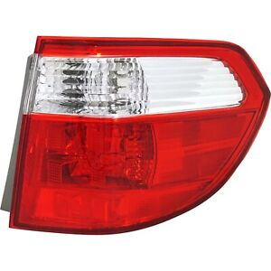 Halogen Tail Light For 2005 2007 Honda Odyssey Right Outer Clear Red Lens
