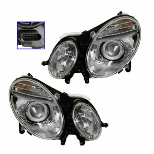 Hid Xenon Headlights Headlamps Left Right Pair Set For Mercedes Benz E class