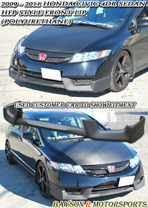 Hf style Front Lip urethane Fits 09 11 Civic 4dr Sedan