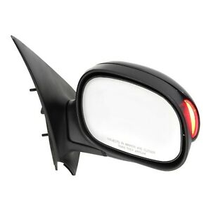 Power Mirror For 2001 2003 Ford F 150 Crew Cab Front Right Paintable Manual Fold