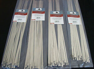 100 Goliath Industrial 17 Stainless Steel Wire Cable Zip Ties Straps Wholesale