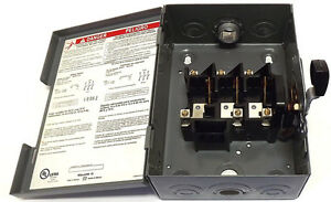 30 Amp 3 Phase Disconnect Switch Square D Dssqd341