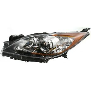 Headlight For 2010 2011 2012 2013 Mazda 3 Hatchback Or Sedan Left
