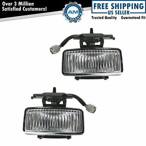 Fog Driving Lights Lamps Left Lh Right Rh Pair Set Kit For 97 01 Jeep Cherokee