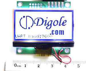 1 8 Serial uart iic i2c spi 12864 Lcd Module 7fonts graphic backlight Arduino