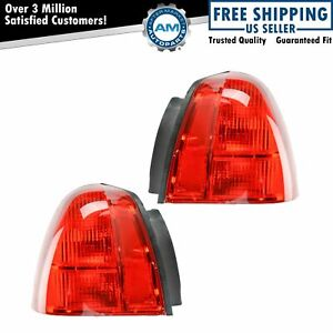 Taillight Taillamp Pair For Lincoln Town Car 03 11