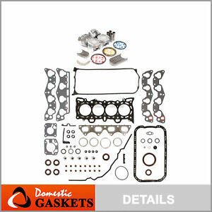 Fit 96 00 Honda Civic De Sol Full Gasket Piston Bearing Ring D16y7 D16y8 D16y5