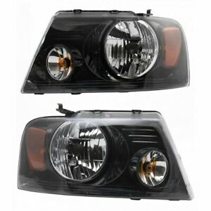 Headlight Left Right Pair Set For 06 08 Ford F150 Harley Davidson Pickup Truck