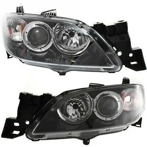 Headlight Set For 2004 2007 2008 2009 Mazda 3 Sedan Left And Right 2pc