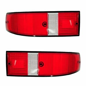 Rear Taillight Taillamp Lens Left Right Pair Set For Porsche 911 912 930