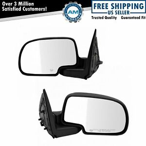 Side View Mirror Power Heated Lh rh Pair Set For Silverado Tahoe Suburban Sierra