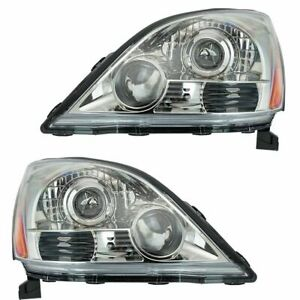 Headlight Headlamp Lh And Rh Pair Set For 2 For 03 09 Lexus Gx470 Sport Package