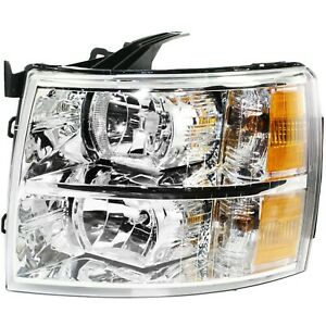 Headlight For 2007 2013 Chevrolet Silverado 1500 Driver Side W Bulb