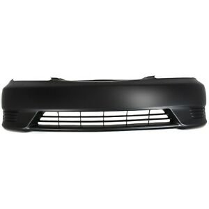 New Primered Front Bumper Cover For 2005 2006 Toyota Camry W Out Fog 05 06